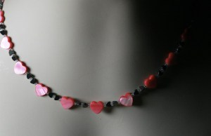 Shell and hematite heart necklace to show how much she is loved